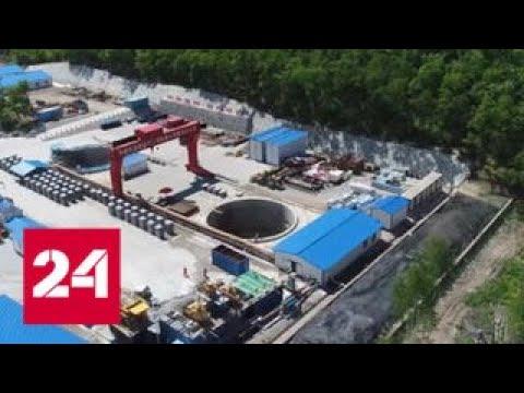 Под разлившимся Амуром идут работы по возведению газопровода Сила Сибири - Россия 24