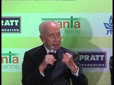 Session with H. E. Mr. Shimon Peres, Former President of Israel