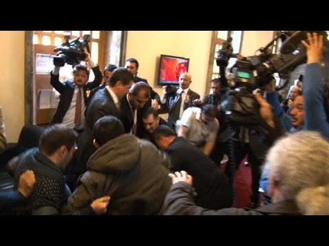 Turkey opposition leader punched by assailant in parliament
