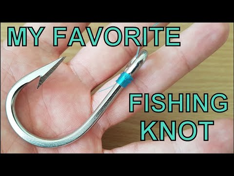 #3 My favorite fishing knot | How to tie a fishing hook to a...