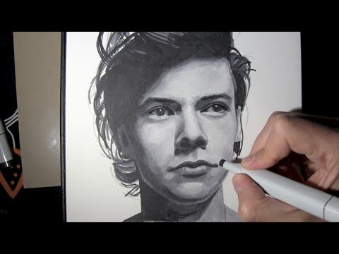 Harry Styles Lips Drawing Drawing Harry Styles From One