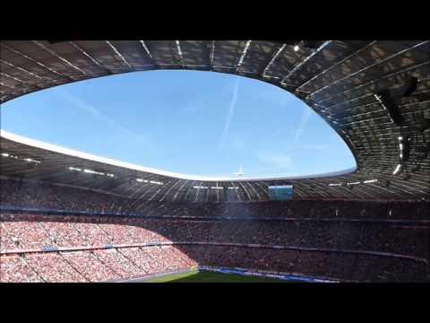 Borussia MG Fans  in der Allianz Arena - 30.04.16