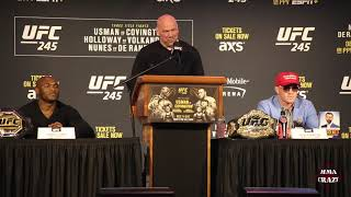 Full UFC 245: Kamaru Usman vs. Colby Covington Press Conference