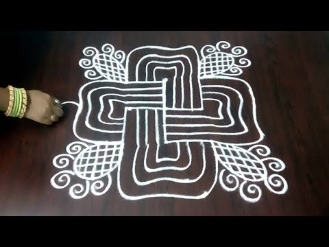 Easy &  Simple Margazhi Kolam  || Dots In Rangoli Design || Creative Design || Fashion World