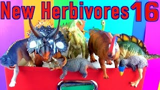 DINOSAUR Box 16 TOY COLLECTION - NEW HERBIVORES Unboxing Kids Toy Review SuperFunReviews