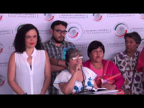 Conferencia de Prensa con vecinos del pueblo Santiago Ahuizotla, Azcapotzalco