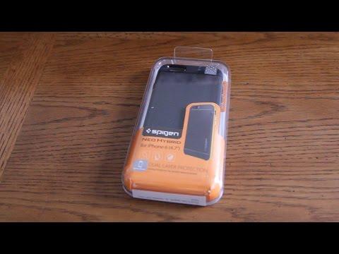 UNBOXED - Spigen  iPhone 6 Protective  Bumper Case Slim Fit Dual Protection Cover  Unboxing