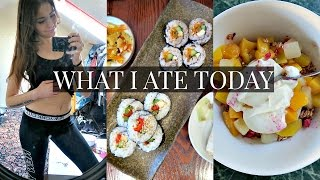 WHAT I ATE TODAY [VEGAN] + MY TRAVEL WORKOUT ROUTINE
