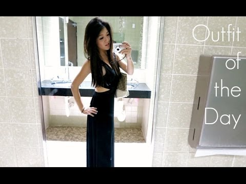 OOTD: Black Maxi with Cut Outs