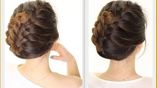 Download ★ 5-Minute French BRAID Updo | Easy Summer HAIRSTYLES 3Gp Mp4