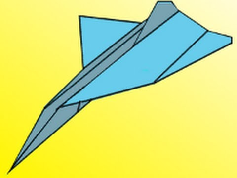 how to make a spinning paper airplane