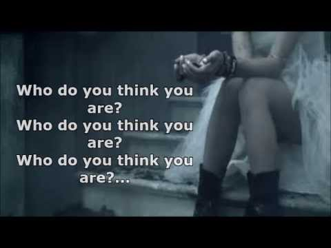 Christina Perri - Jar Of Hearts ( Who Do You Think You Are) Lyrics
