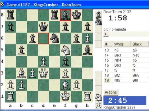 Chessworld.net : Blitz #245 vs. DeanTeam (2132) - Caro-Kann: Tartakower (Nimzovich) variation (B15)