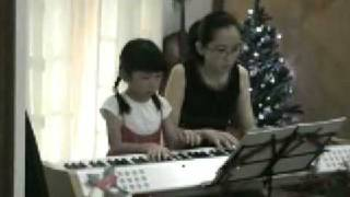 Ethel Poh (7-year-old) performed with her teacher on duet (2008) - Slavonic Dance