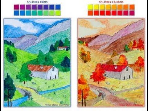 Como pintar un paisaje en 10 minutos youtube - Paisaje con colores calidos ...
