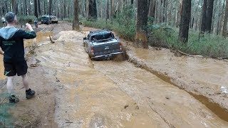 Ford Ranger PX2 Off road test Mud & Bog Holes   Dick Cepek Extreme Tyres test