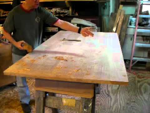 Hand Planing A Table Top With Timothy Clark Cabinetmaker