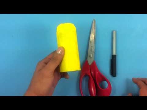 Pulpo con tubo de papel higiénico - Manualidades divertidas para niños