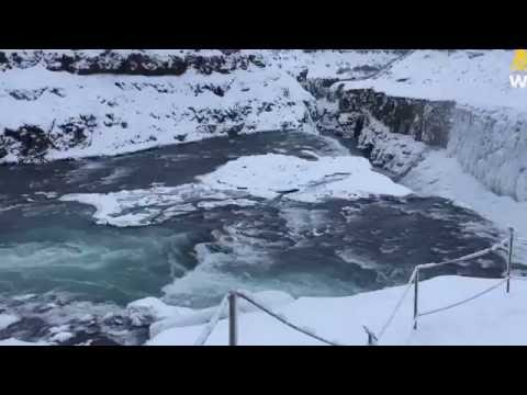 Iceland's Golden Waterfall