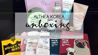 MommyLevy - Althea Haul Unboxing November 2016