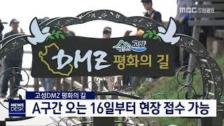 투/고성 DMZ 평화의 길,16일부터 현장 접수 가능
