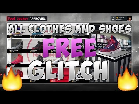 NBA 2K17: ALL CLOTHES AND SHOES FREE GLITCH TUTORIAL | 2K Sports Store Glitch
