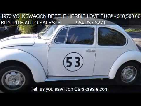 1973 VOLKSWAGON BEETLE HERBIE LOVE BUG!!  - for sale in FT L