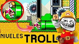 Nada es Seguro Aquí 😖😨 - NIVELES TROLL #2 | Super Mario Maker - ZetaSSJ