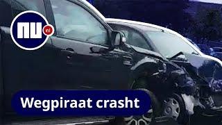 Man ramt meerdere auto's in Rotterdam met pick uptruck | NU.nl