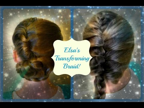 Elsa's Transforming Updo and Braid, Disney's Frozen Hairstyles