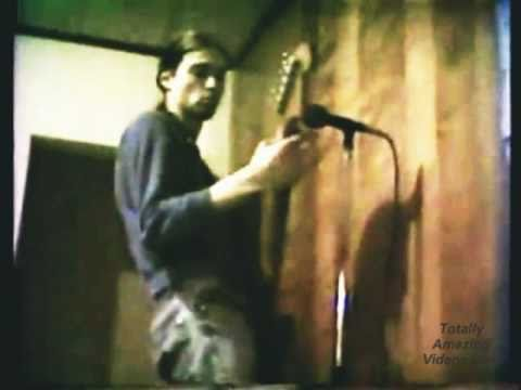 "http://TotallyAmazingVideos.com -- Unbelievable recording. This video is incredible. Nirvana live in 1988 Doing the song ""Mr. Mustache"" in a basement before ..."