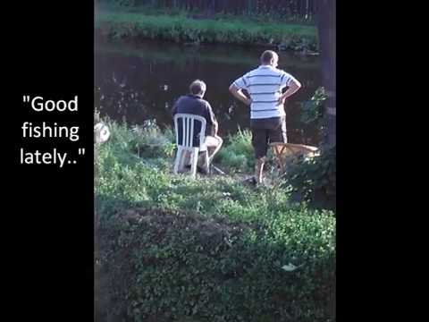 'FLOAT FISHING SCAM' Funny practical joke - Leeds Liverpool canal Lydiate - Scouser's Fool Best Mate