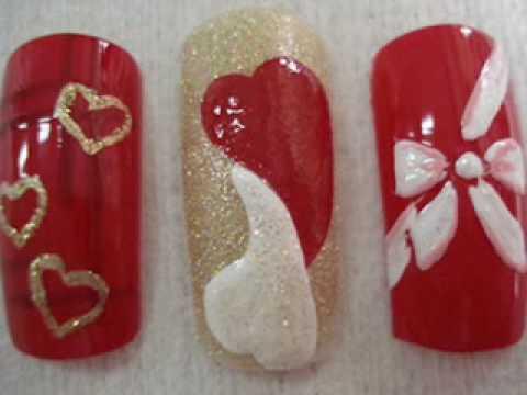 Creative nail designs: floral nail designs ideas
