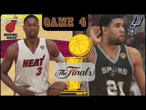 2014 NBA Finals: Heat vs Spurs - Game 4 Sim (NBA 2K14) PS4