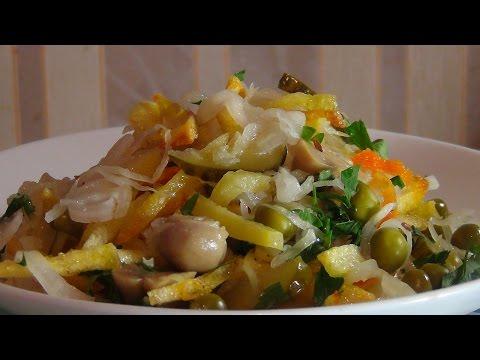 Постные салат рецепты простые и вкусные