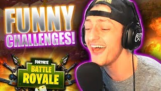 The FUNNIEST Challenges EVER on Fortnite! Ft Azerrz Crispy & Pizza!