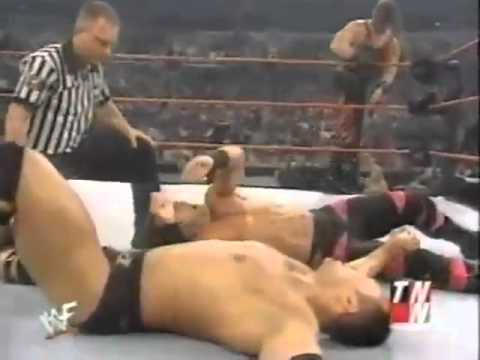 The Rock and Rikishi vs Kane and Chris Benoit Raw 2000 thumbnail