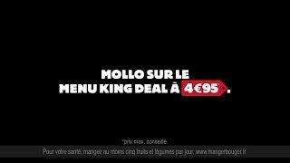 Pub BURGER KING Serge le comptable - Menu KING DEAL a 4,95€