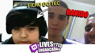 FILHO DO TECNOSH FAZENDO LIVE & HASTAD BANIDO DE NOVO | LIVES ENGRAÇADAS #113