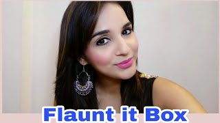 Flaunt It Box April 2018   Unboxing & Try on Review   Look Book   8 Trendy Earrings  