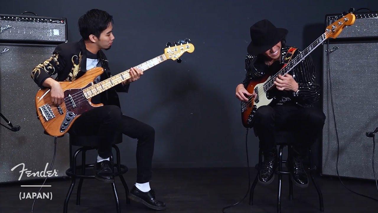 """日野""""JINO""""賢二 × 新井和輝(King Gnu)- Fender「Ultra Test Drive Sessions Vol.3」(前編) セッション映像を公開 thm Music info Clip"""