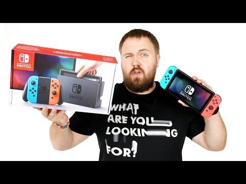 Распаковка Nintendo Switch и аксессуаров к ней