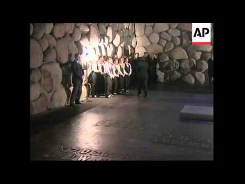 Russian president visits Holocaust memorial centre