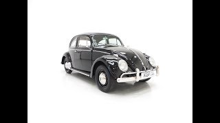 A Beautiful Matching Numbers 1958 Volkswagen Beetle 1200 De Luxe Sedan - SOLD!