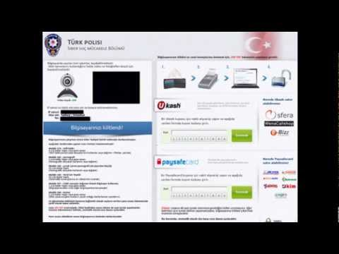 How To Remove Türk Polisi (turkish Police) Virus : Ransomware Virus Removal Guide  .mp4 video