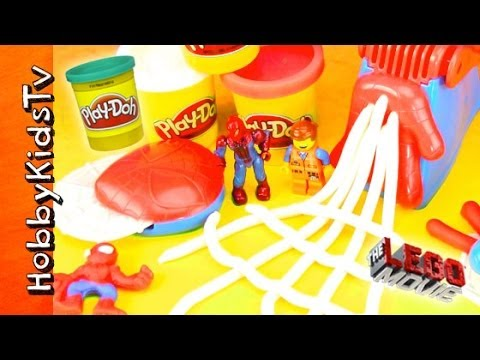 PLAY-DOH Spiderman Play Set, Emmet Joins the Crusade Adventure [The LEGO Movie]