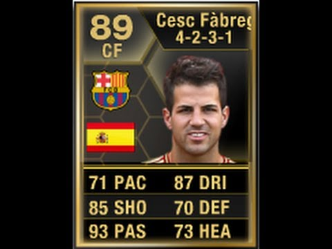 FIFA 13 SIF FABREGAS 89 Review & In Game Stats Ultimate Team