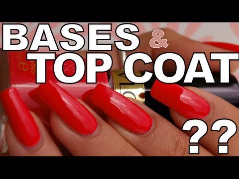 Les bases et top coat favoris / Favorite base and top coat
