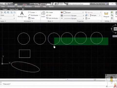 Autocad - 33. Copiar y duplicar objetos