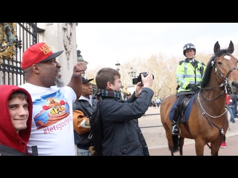 SHANNON BRIGGS ESCORTED AWAY FROM BUCKINGHAM PALACE BY THE POLICE AFTER CALLING OUT UK HEAVYWEIGHTS!
